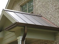 Custom Gutter System Dayton Roofing Contractor Van