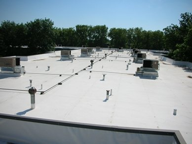 flat roof, van martin roofing, dayton ohio, roof repair
