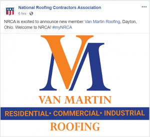 NRCA, commercial roofing, industrial roofing, residential roofing, dayton ohio,