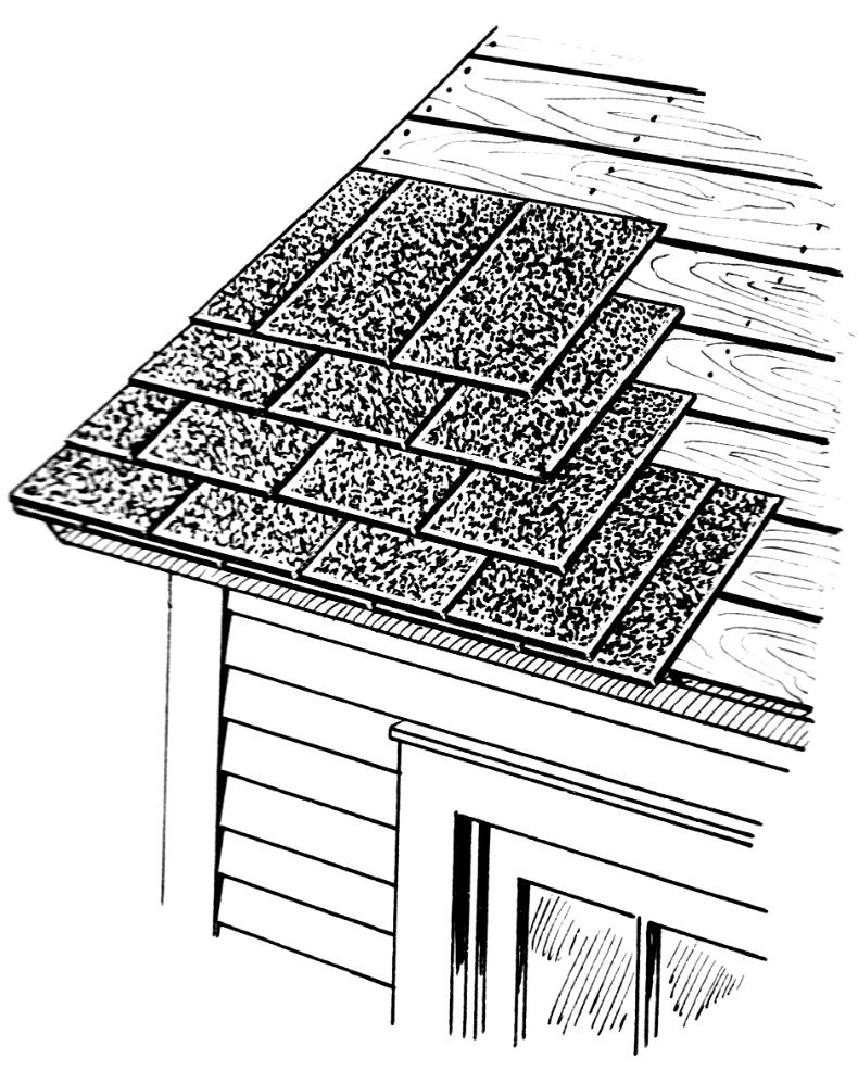 shingle roof sketch, shingle roofing, vanmartinroofing