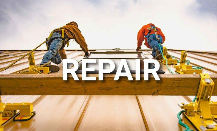 Van Martin performing a metal roof and skylight repair