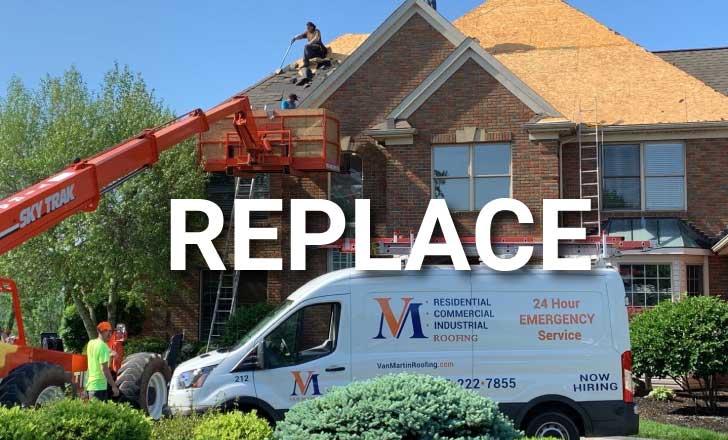 Van Martin replace asphalt shingles with metal shingles