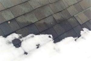 Shingle roof leak from snow in Dayton Ohio