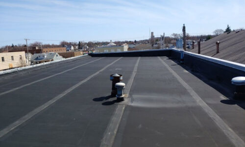 Commercial flat roof replacement Fairborn, Ohio
