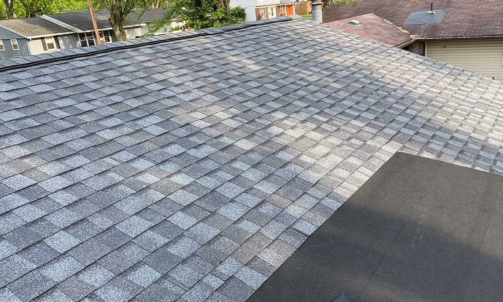 Shingle roof replacement with CertainTeed shingles Enon, Ohio.