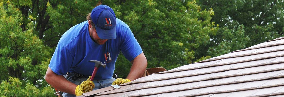 Roof repair by Van Martin
